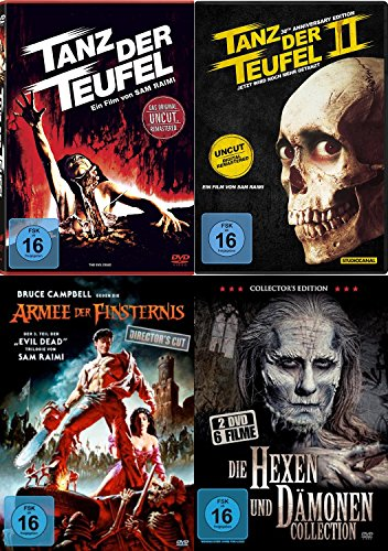 Tanz der Teufel 1 2 3 - Evil Dead - Uncut Complete Collection + 6 Hexen & Dämonen Bonusfilme DVD Limited Edition