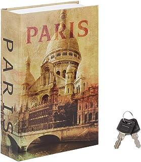 Jssmst Diversion Book Safe with Key Lock, Secrect Hidden Safe Lock Box Large, SM-BS019PN