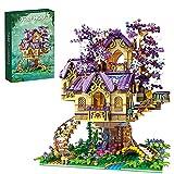 LALAmi 2242 piezas modelo de casa de árbol de elfo romántico, cerezo, casa modular, compatible con Lego
