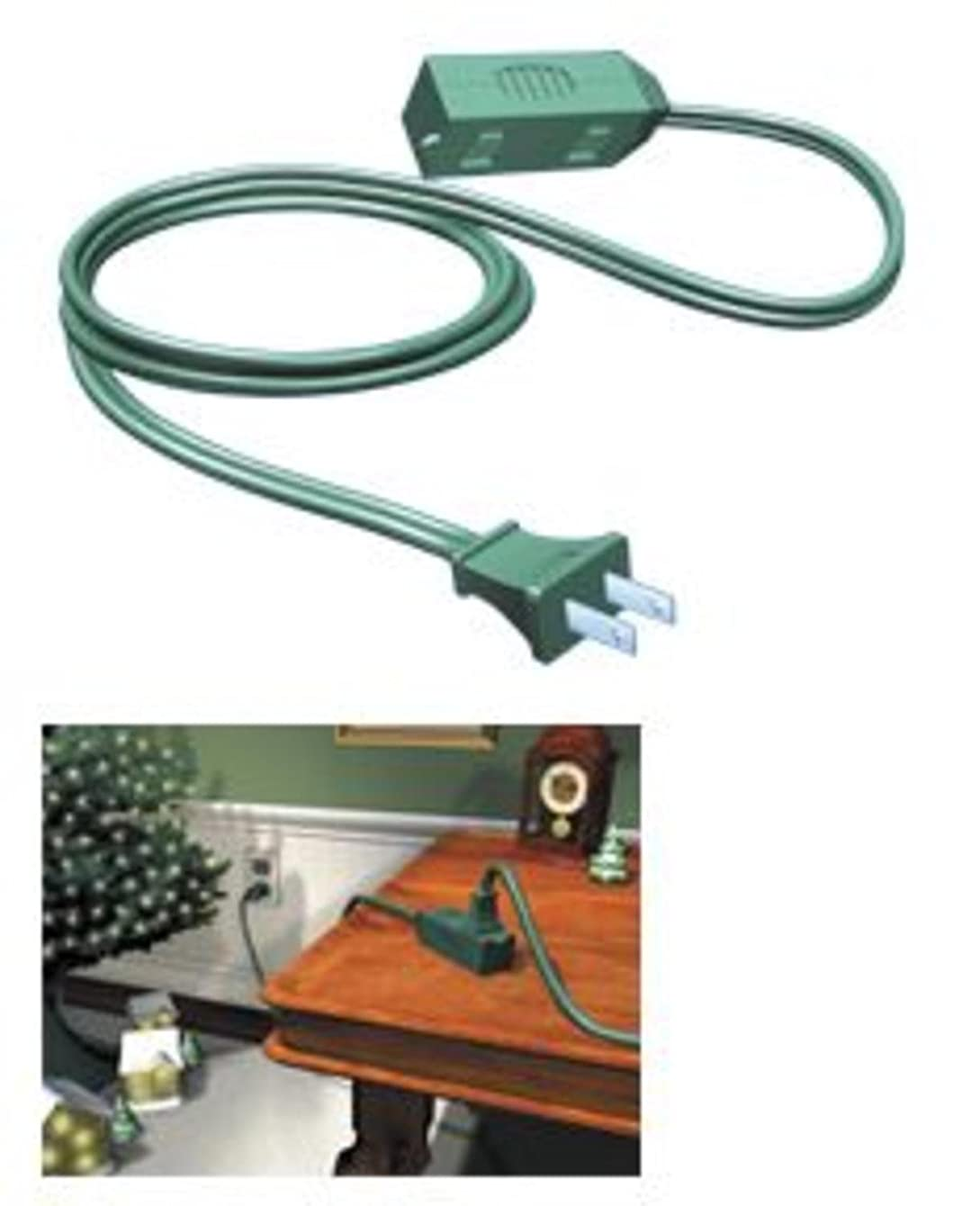 Westinghouse Green 3-Outlet Indoor Extension Power Cord - 6'