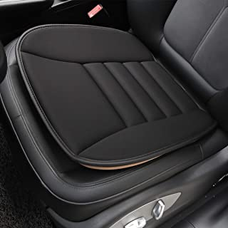 Aukee Car Seat Cushion, Office Chair Wheelchair Mat Memory Foam Pad Back Sciatica Pain Relief - Black (1PC)