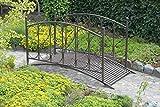 Gartenbrücke mit Geländer aus Metall