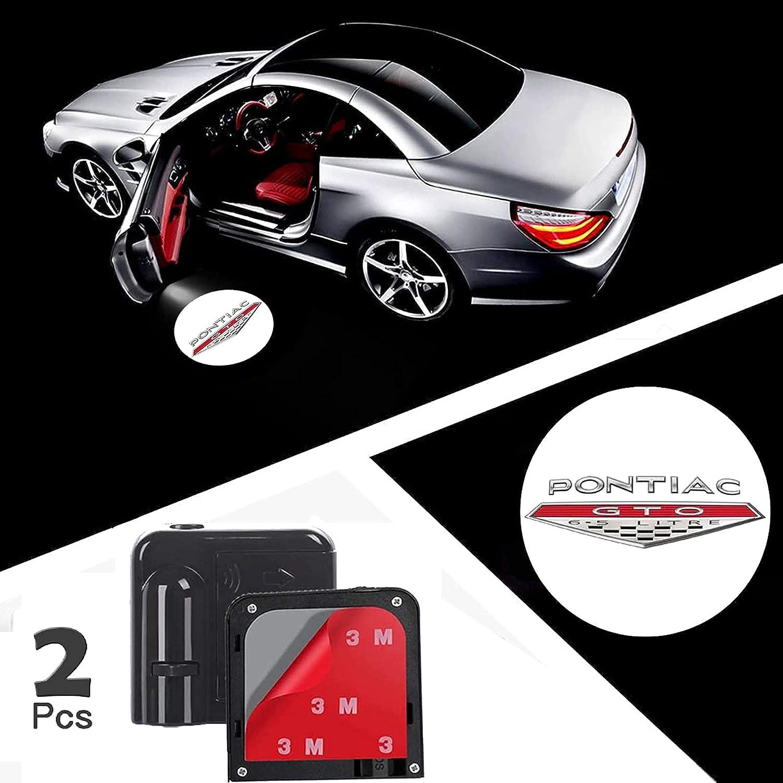 2Pcs of Car Door Lights Logo Pontiac GTO. For Projector Universa Max 49% OFF New product
