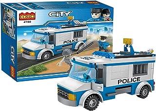City Building Blocks Toys Police Car 194 Pieces Bricks Toys Construction Police Patrol Car Building Set 4150