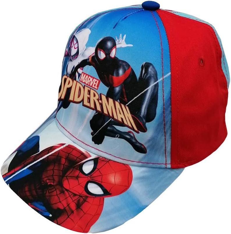 Casquette Spiderman Marvel avec visi/ère d/ét/é pour homme Taille 52//54-MV15729//C