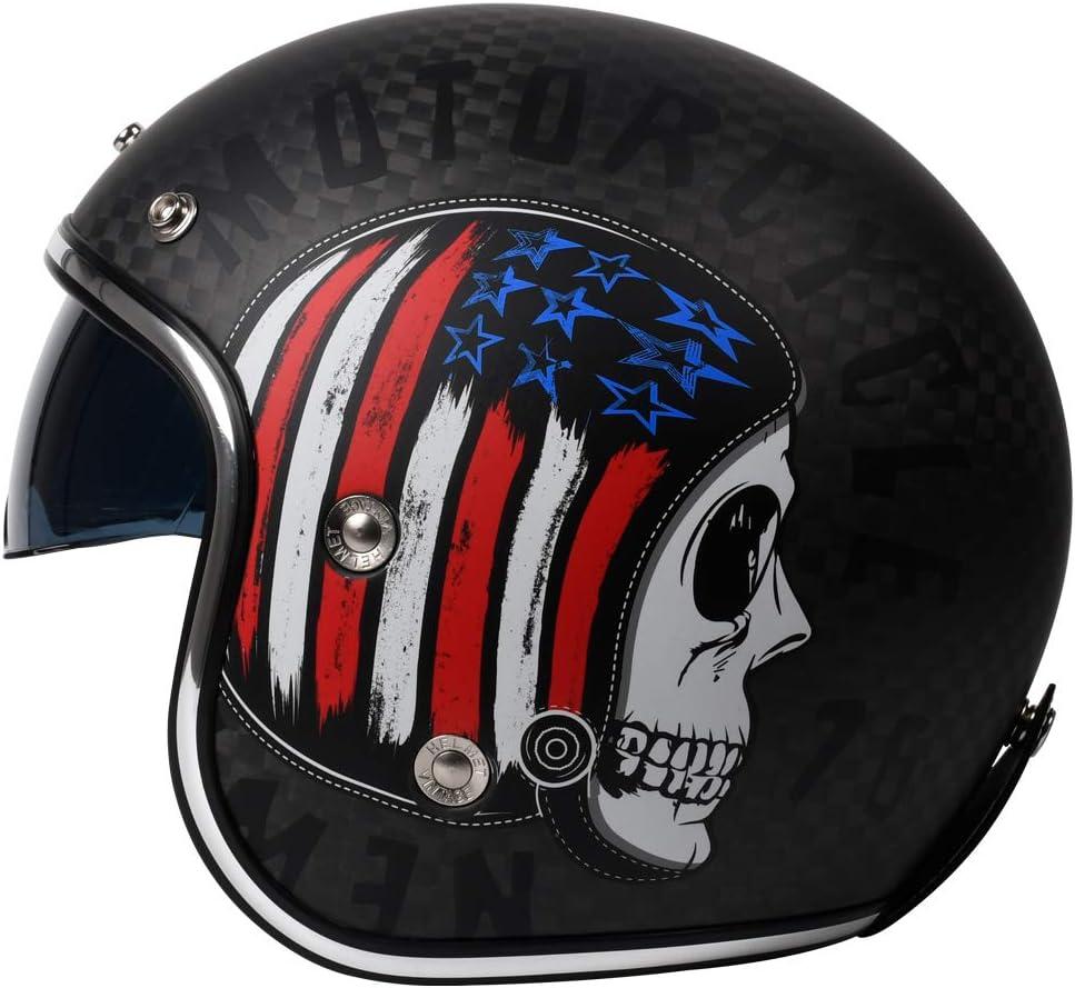Motorcycle Open Face Carbon Fiber Helmet DOT YEMA Regular dealer YM- - Selling rankings Approved