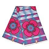 Afrikanischer Stoff mit rosa und blauen Formen, Wachstuch