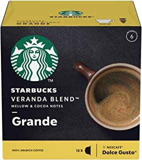 3 PACK NESCAFE Dolce Gusto Veranda Blend Grande Coffee (Starbucks Version) - 36 Capsule Pods - With Notes of Nuances of Soft Cocoa - Quality Levels - Incredible Taste - Organic Coffee - Spain