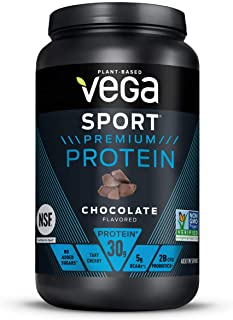 Vega Sport Premium Protein Powder, Chocolate, Plant Based Protein Powder Post Workout - Certified Vegan, Vegetarian, Keto-...