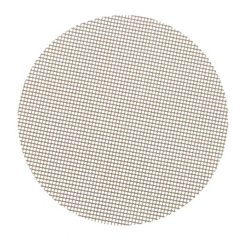 OC TRADE 32/36cm Safety BBQ Mesh Grill Mat Heat Resistant Round Non-Stick Cooking Sheet Churrasco Barbecue Liner Roaster Tools BBQ Liner- Grill Cleaning Brush- Grill spatula-36