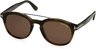 258ff54dfd Tom Ford FT0515 Sunglass Pant Gafas de Sol, Dark Green Havana with Brown, 53
