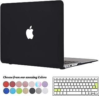 TECOOL Funda MacBook Air 13 Pulgadas (Versión: 2010-2017), Delgado Cubierta Plástico Dura Case Carcasa con Tapa del Teclado para MacBook Air 13.3 Pulgada (Modelo: A1466 / A1369) - Negro