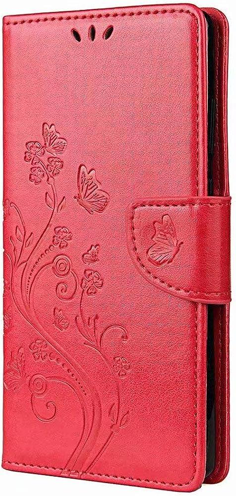 Gogme portafoglio porta carte di credito custodia per xiaomi mi 10t lite 5g in pelle sintetica ?XHD-Xiaomi Mi 10T Lite 5G-Red