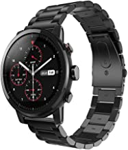 HATALKIN Band Compatible with Galaxy Watch 46mm, Metal Replacement Wristband Accessories Strap Compatible with Galaxy Watch 46mm, Black