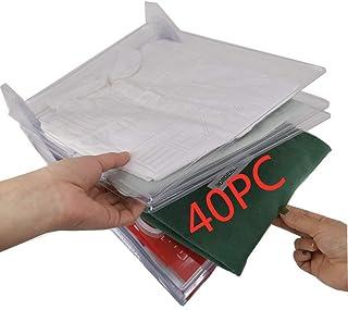 Nifogo Organiseur de placards et Chemise fichier Taille Standard, Dossier et Chemise de t-Shirt de Taille Normale (40Pack)