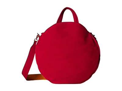 NEUVILLE Pizza Satchel (Red Suede) Handbags