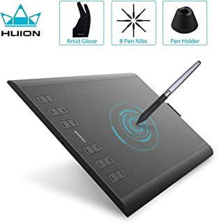 Huion H1060P Graphics Drawing Tablet 8192 Pen Pressure with Battery-Free Stylus and 12 Press Keys