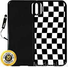 Custom iPhone X Case (Checkered Flag Finish Line) Edge-to-Edge Plastic Black Cover with Shock and Scratch Protection | Lightweight, Ultra-Slim | Includes Stylus Pen by INNOSUB