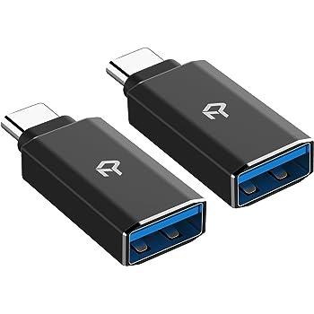 Rankie Adattatore USB C Alta velocità USB Tipo C a USB-A 3,0, Pacco da 2, Nero