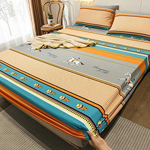 FJMLAY Bedsure Sabanas Bajeras Ajustables -,Sábanas Ajustables de Algodón, Protector Antideslizante para Alfombrilla para Dormitorio Apartment-K_180cmx200cm