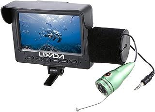 Lixada 1000TVL 4.3インチ液晶モニター魚水中LEDナイトビジョンカメラ165°広角15M海釣りケーブル