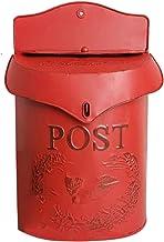 ZHYLing Iron Retro Mailbox verzegeld suggestie doos krant brievenbus bruiloft tuin decoratie huis brievenbus brievenbus do...