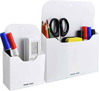 Magnetic File Holder - Magnetic Paper Holder, Pocket Organizer Office Supplies Storage Mail Organizer for Notebooks,Planne...