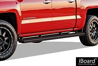 APS 5in Wheel-to-Wheel Black Nerf Bars Custom Fit 07-18 Silverado Sierra Crew Cab 6.5ft Bed