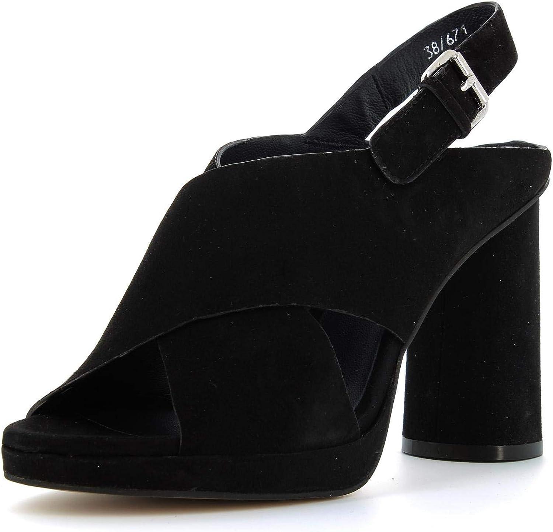 CRIS VERGRE' women's shoes heeled sandals EJ4408N BLACK