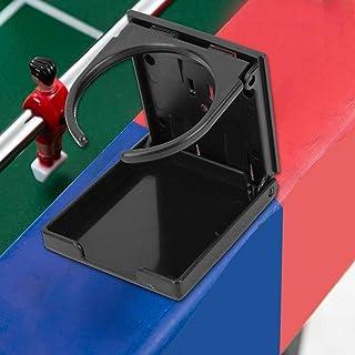 Foosball Tisch klappbarer Getränkehalter Cup, Kunststoff schwarz Foosball Tisch Auto Externe Cola Getränkebecher Rack Halter Ständer, für Tischkicker Tische