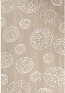 Contemporary Coastal Pattern Beige/Ivory Polyester Area Rug (5x7.6) , Rug , Home Garden Living