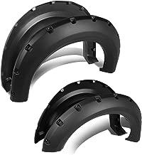 For 09-14 Ford F150 Smooth Pocket-Riveted Style Side Wheel Fender Flares (Black)