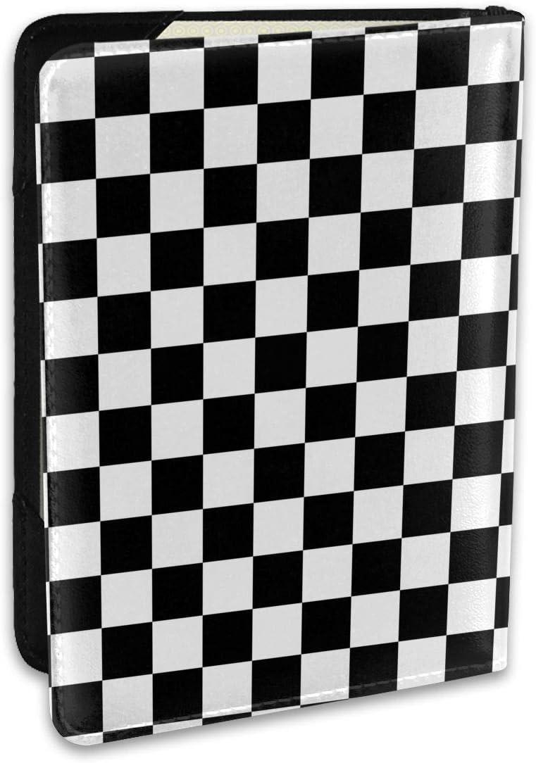 Checkerboard Chess Board Fashion Leather Super sale Holder Cover 5% OFF C Passport