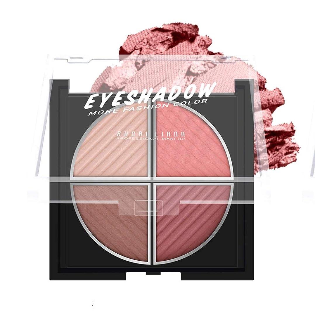 顔料コーナー信頼性のある4色の化粧品メイクアップアイシャドウロングラスティングアイシャドウのメイクアップパレット