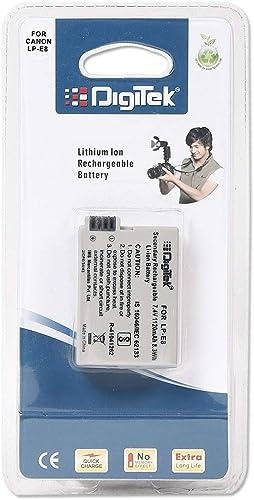 DIGITEK 1120mAh Rechargeable Li-ion Batteries for Canon Camera and Digital Camcorders (LP-E8)