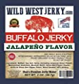 #1 Best Premium 100% Natural Grass Fed Hand Stripped 2 OZ. Thick Cut Delicious Tasty Bold Flavor Buffalo Jerky from Utah USA – Wood Smoked with Hickory Wood by Wild West Jerky