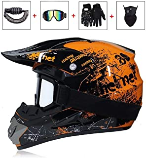 Berrd Casco da motociclista elegante e alla moda Capovolgere i teschi del cranio Casco di vibrazione Fibbia facile e veloce rivestimento morbido e confortevole nero lucido XM
