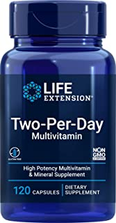 Life Extension Two-Per-Day High Potency Multi-Vitamin & Mineral Supplement - Vitamins, Minerals, Plant Extracts, Querceti...