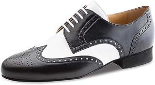 Werner Kern Hombres Zapatos de Baile 28023 - Cuero Negro/Blanco - 2 cm Ballroom