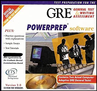 Test Preparation for the GRE: General Test and Writing Assessment [Powerprep Software Version 2.0]