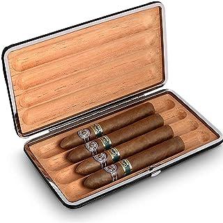 Humidors Cigar Box Cigar Fuktgivande läderfodral Presentförpackning