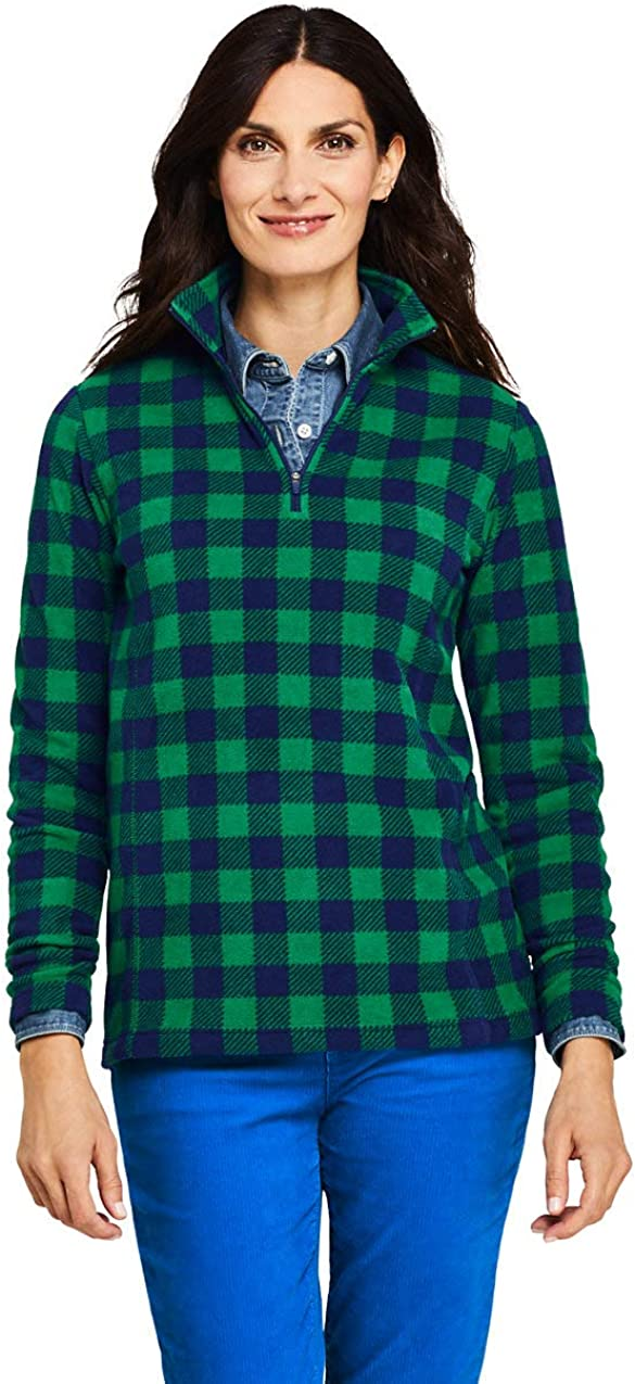 Lands' End Women's Quarter Ranking integrated 1st place Top Fleece Max 61% OFF Zip Pullover