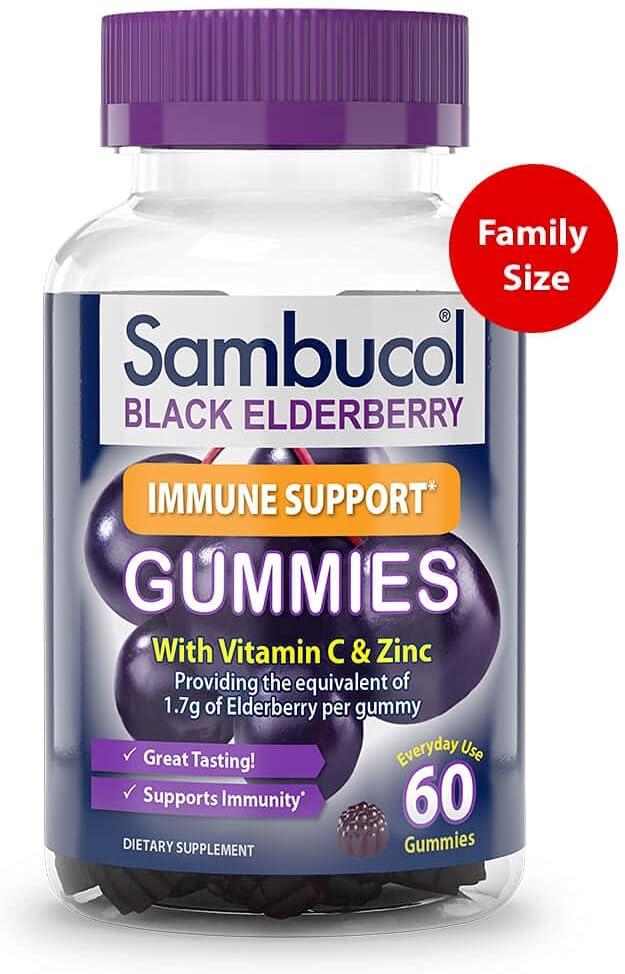Sambucol Black Elderberry Gummies, 60 Count : Health & Household