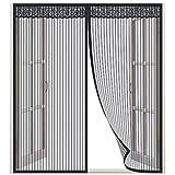 Moustiquaire Fenêtre, Lictin Rideau de moustiquaire 1.3 * 1.5m avec Autocollant et Punaise …
