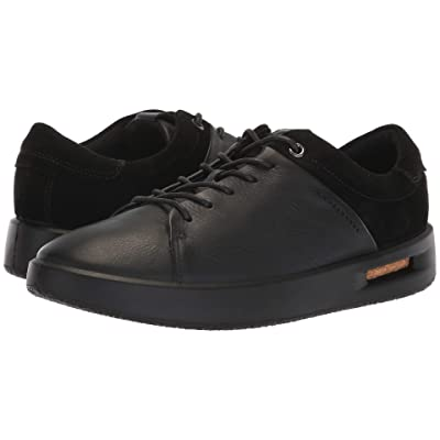 ECCO Corksphere 1 Tie (Black Leather/Black Suede) Women