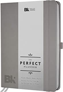 The Perfect Planner 2019-20 - Undated Daily Weekly Monthly Planners - Academic Organizer and Productivity Agenda (12 Month). A5 Vegan Leather Dark Gray Hardcover