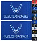 JBCD 2 Pack US Air Force Wings Flag Patch Force Army Flags Tactical Patch Pride Flag Patch for Clothes Hat Patch Team Military Patch