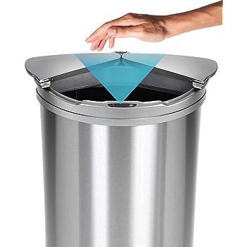 JOBSON(ジョブソン) ゴミ箱 自動ゴミ箱 【 賢いゴミ箱™ 】 47L (45リットル対応) センサー式 横スライド スリム ダストボックス おしゃれ 分別 消臭 におい 全自動 ふた付き 消臭 JB03 [メーカー2年保証]