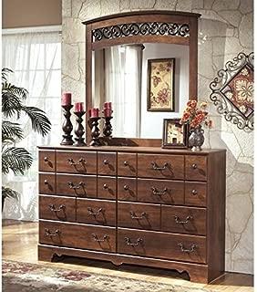 Ashley Furniture Timberline 2 Piece Wood Dresser Set in Warm Brown