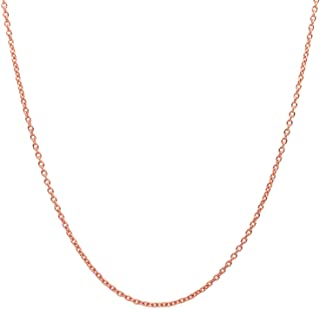 10K Yellow Gold 2.0MM Round Rolo Link Chain Necklace - Made in Italy